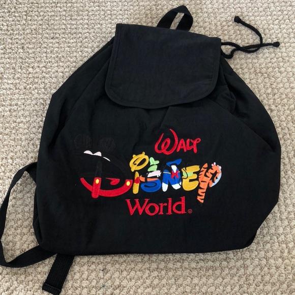 596429883a5a Disney Handbags - Walt Disney World black back pack
